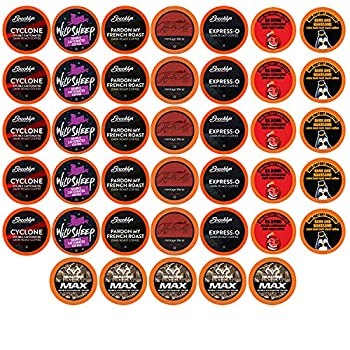 Best of the Best Pods Variety Pack for Keurig K Cup Brewers - Strong and Regular Coffee Lovers Great Gift - 5 Cups of Each High Caffeine Coffee 40 Count
