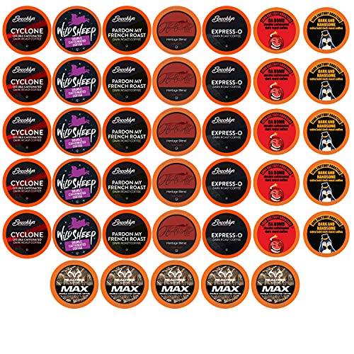 Best of the Best Pods, Variety Pack for Keurig K Cup Brewers, - Strong and Regular Coffee Lovers, Great Gift - 5 Cups of Each, High Caffeine Coffee, 40 Count