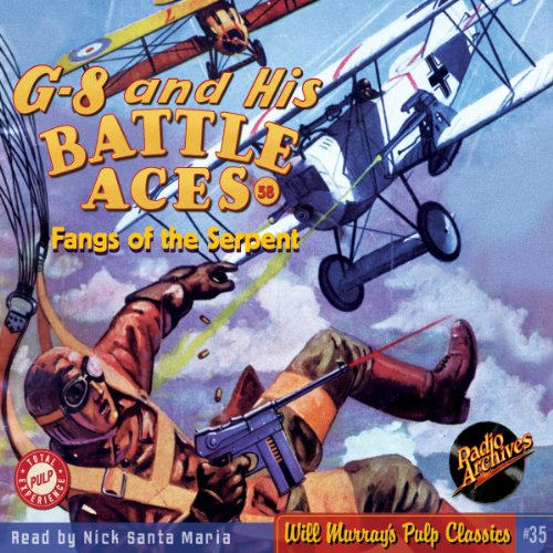 G-8 and His Battle Aces, #58 July, 1938 audiobook cover art