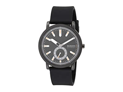 Skagen Colden Three-Hand Mesh Watch (SKW6612 Black Silicone) Watches