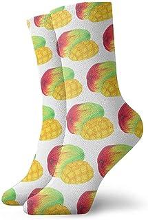 Dydan Tne, Mango Art Pattern Calcetines de Vestir Calcetines Divertidos Calcetines Locos Calcetines Casuales para niñas Niños