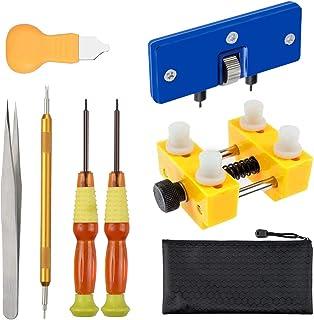 Vastar Kit de Réparation Montres,Kit de Remplacement de Batterie Montres Professionnel et Outil pour Ouvrir Montre Boîtier...