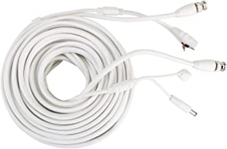 60ft PTZ Power Video & RS-485 Control Cable for CCTV Security PTZ Dome Camera(White)