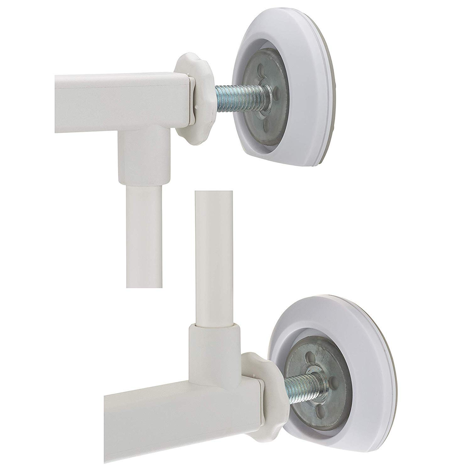 Wall Saver Protects Walls from Baby Gate Damage - Makes Safety Gates More Secure - for Walk Thru Pressure Mounted Gates - for Childproofing, Pet Proofing - 4 Mini Flat Bottom Wall Savers
