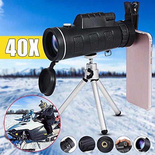 RDJM Télescope D'appareil-Photo De Téléphone Portable De 40X60 HD, pour Observer des Oiseaux, Chasse, Camping, Randonnée, Extérieur, Surveillance