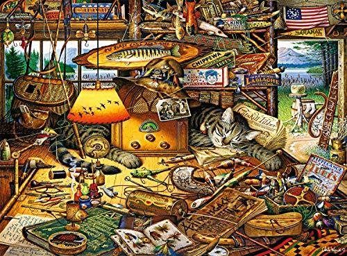 Buffalo Games Max in The Adirondacks dell'artista Charles Wysocki 1000 pezzi animali e fauna selvatica grande puzzle