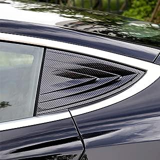 BASENOR Tesla Model 3 Window Cover Protector Anti-Theft Rear Quarter Panel Glass Window Shutters