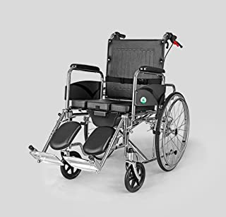 Best Deluxe Wheelchair Foldable Best Lightweight Lightweight Steel Portable Wheelchair, Seat Multi-Function, Portable Trolley, Senior, Full-Lying Bath Chair,Pull-Out Toilet - Ergonomic Well Made Best