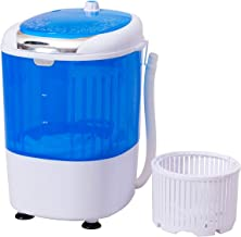 COSTWAY Washing Machine and Spiner, Electric Compact Laundry Machines Portable Durable Design Washer Energy Saving, Rotary Controller and Washer Spin Dryer with Hose, Blue
