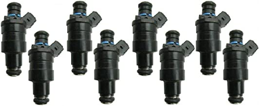 USA Re-manufactured OEM Fuel Injectors / 8-piece/GENUINE LUCAS - Part # D1570BA / for 1987-1988-1989-1990-1991 Ford E-250 Econoline Club Wagon 5.8L V8