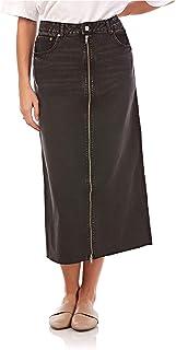 Cheap Monday-Zip long skirt -Women-Long Skirt-Black Smoke-S