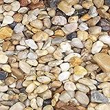 20 Kg Zierkies Gartenkies Teichkies Quarzkies Buntkies Kieselsteine Waschkies Bunt 16-32 mm
