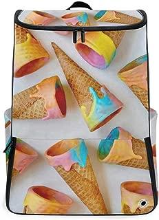 Unicorn Ice Cream Cones Just Taste Overnight Backpack College Laptop Bookbag with Shoe Compartment for Men Women