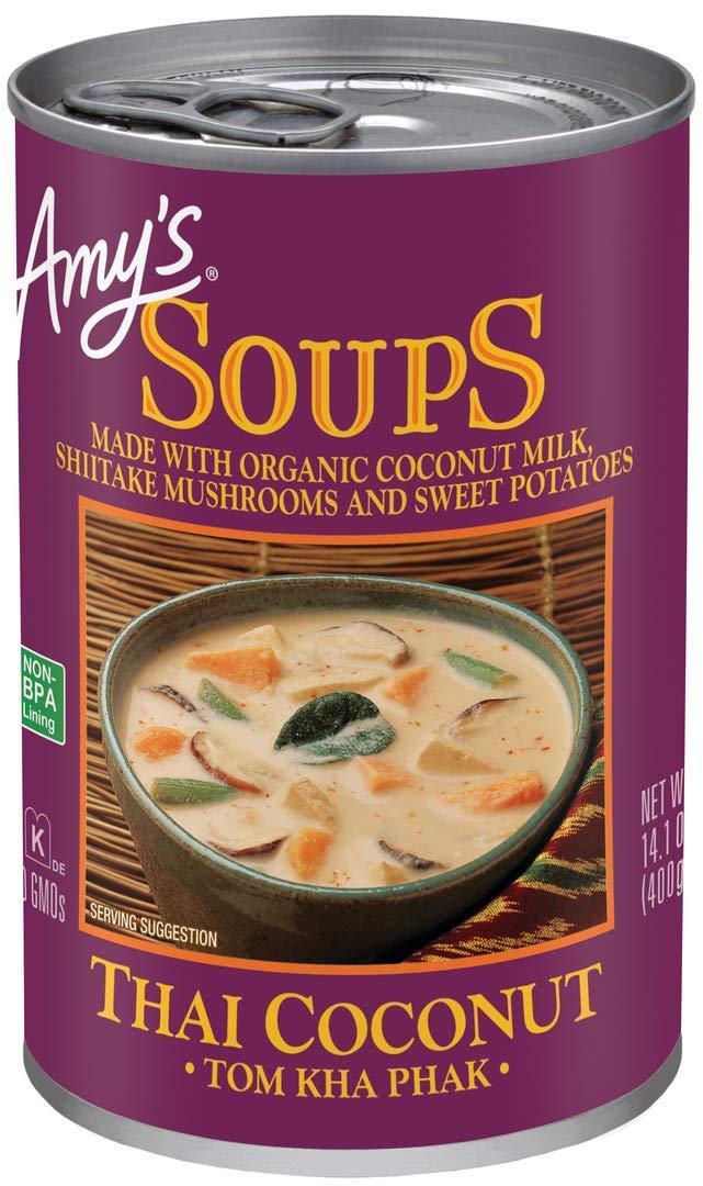 Amy's Thai Coconut Soup (Tom Kha Phak) 14.1 oz. (Pack of 12)