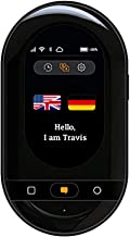 Travis Touch Plus Smart Pocket Translator - 1GB Global Data SIM Card incl, 100+ Languages, Two Way Translations, Touch Screen, Hotspot (Black)