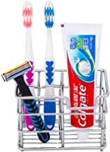 Wekity Toothbrush Holder Stainless Steel Bathroom Organizer Accessories Set -Toothbrush, Toothpaste and Razor Holder Stand...