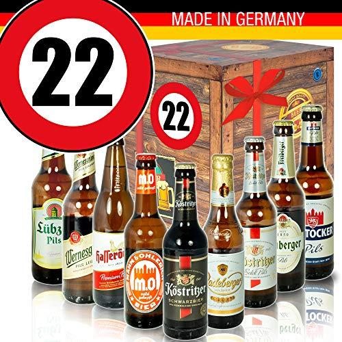 Geschenk Ideen - Biersorten Ostdeutsch - Zahl 22 - Geburtstag Mutti