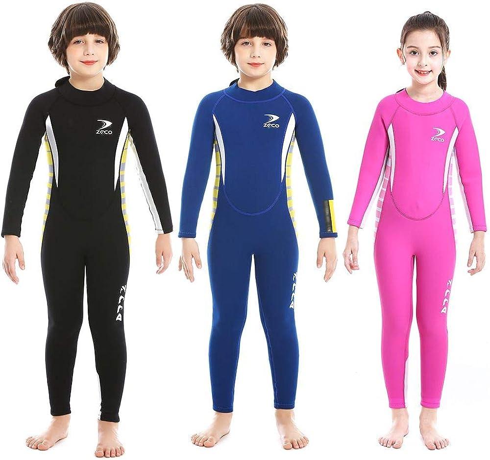 2.5mm Neoprene 高品質 Kids Full Wetsuit One for 驚きの価格が実現 Swimsuit Piece Boys an