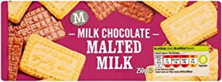 Morrisons Malted Milk Chocolate Biscuit, 250 g, Pack of 30