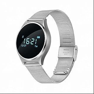 Pulsera Actividad Bluetooth,reloj inteligente hombre con Contador de pasos Monitor de Calorías Rastreador de Frecuencia Cardíaca Alarmas Silenciosas para Android iOS Apple reloj deporte