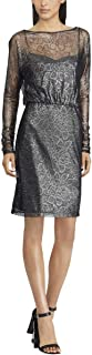 Womens Jadah Metallic Lace Cocktail Dress