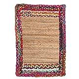Vidal Regalos Alfombra de Yute Colores Rectangular 85x60 cm