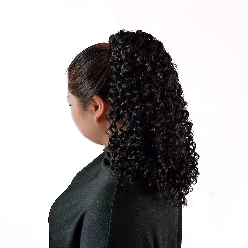 PhoenixFlame Hair Afro Black National uniform free shipping Columbus Mall Kinky Ponytail For Curly Extensions