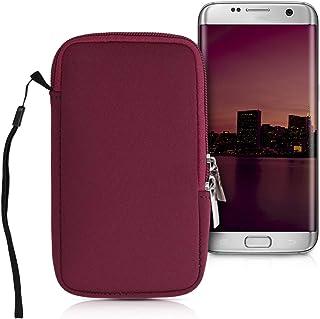 kwmobile Handytasche für Smartphones L   6,5'   Neopren Handy Tasche Hülle Cover Case Schutzhülle Rot   16,5 x 8,9 cm Innenmaße