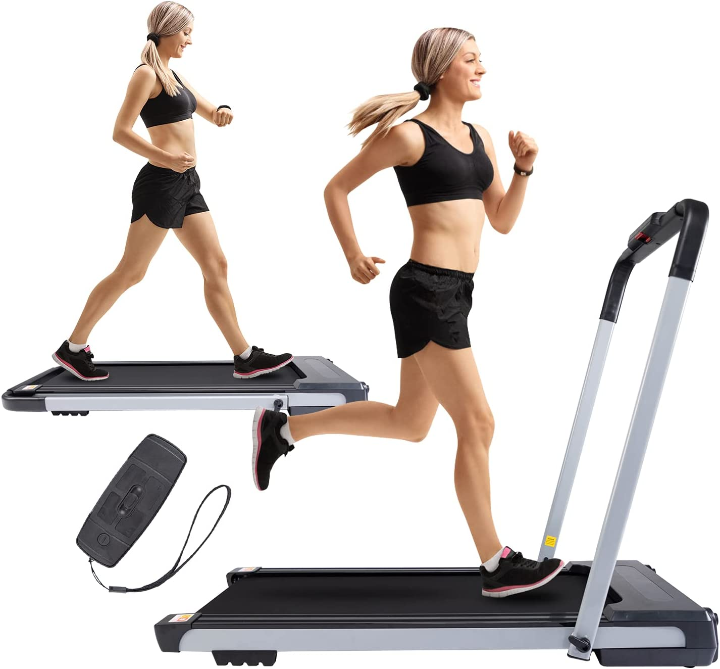 2 in 1 Folding Elegant Under Desk Courier shipping free Electric HP 2.5 Treadmill fo