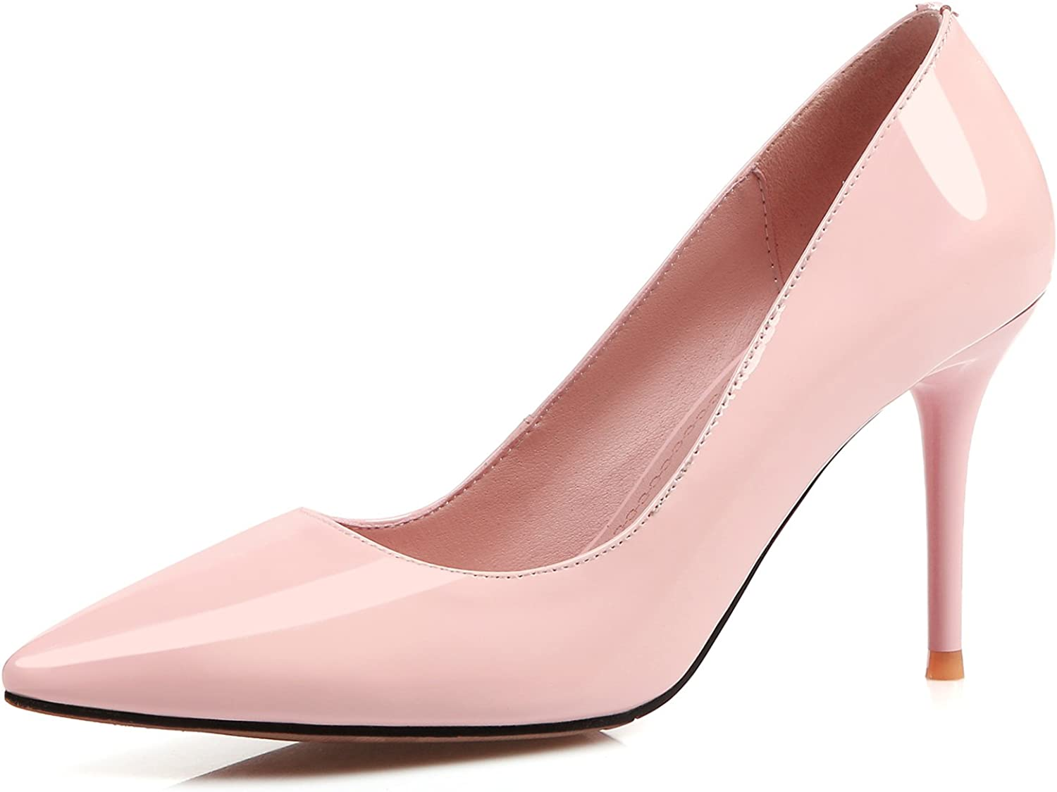 CHENSIR9 Women's Comfort Classic Slip Office Pumps High Heel Dress Pumps for Wedding Patry