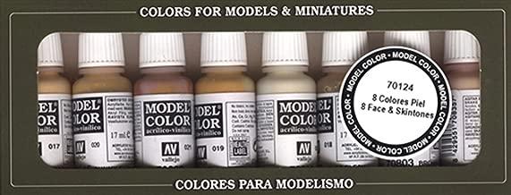 70124 Model Colour Face & Skintones 8 Colour Acrylic Paint Set