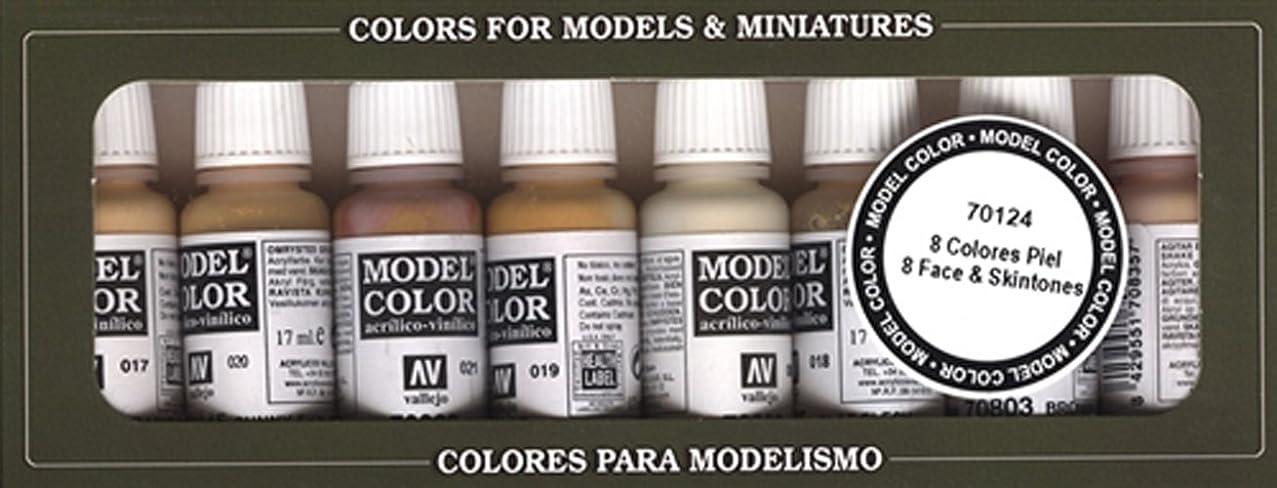Vallejo Face/Skin Colors Paint Set, 8-Colors, 17ml