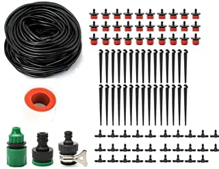 25 M Drip Irrigation Kits Garden Irrigation Accessories, Plant Watering System Distribution Tubing Hose,DIY Plant Garden H...