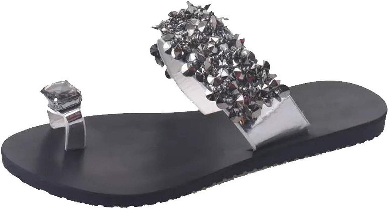 Women Sandals Bling Casual Flat Slippers Rhinestone Female Flip Flops Ladies Beach shoes
