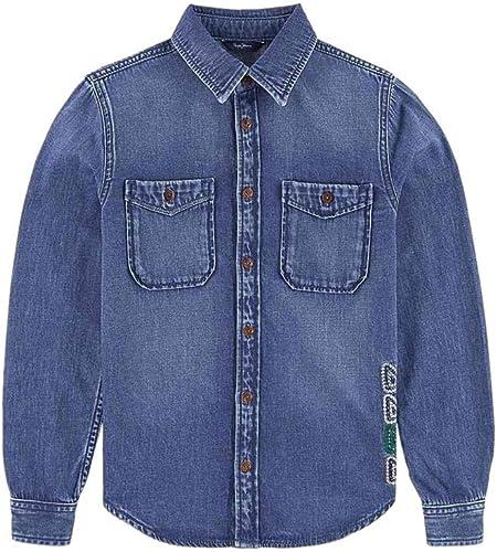 Pepe Jeans - Chemise - Garçon Bleu Denim