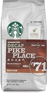 Starbucks Decaf Pike Place Roast Medium Roast Ground Coffee, 12 Ounce (Pack of 6)