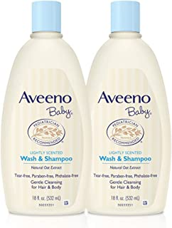 Aveeno Baby Gentle Wash & Shampoo With Natural Oat Extract, Tear-free, Twin Pack, 36 Fluid Ounce