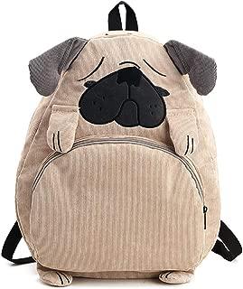 School Backpack, Pug Pattern Travel Backpack Laptop Backpack Double-Zipper Closure School Bag for Teen Girl