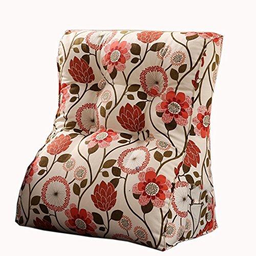 uus Country Style Triangle Canapé Coussin Siège de la chaise Coussin de coussin de motif utile Ralentissement lent Design ergonomique Dossier confortable 45 * 55cm / 55 * 60cm ( taille : 45*55cm )