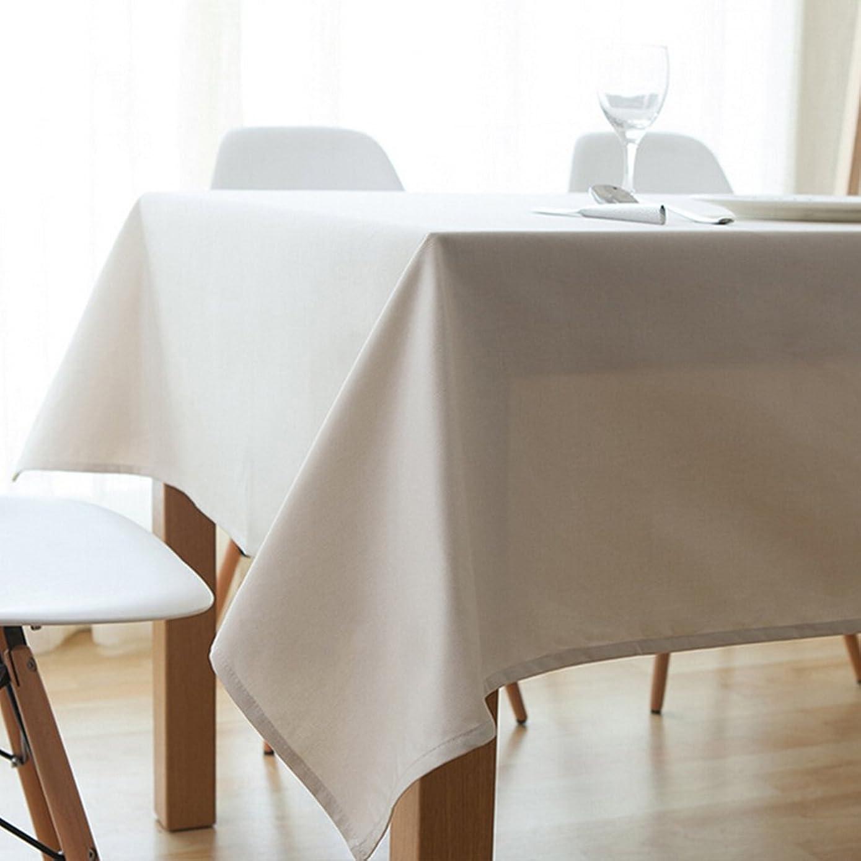 貫通する構成員ワインActnow テーブルクロス 無地 140x220cm 耐熱 厚手 長方形 (ホワイト)