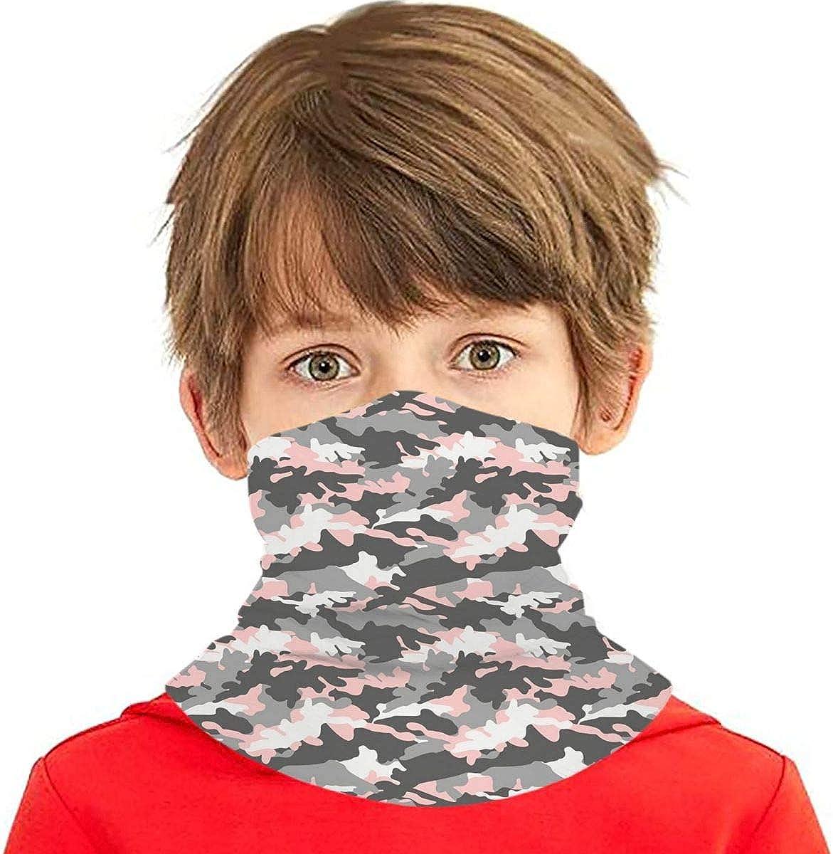Boys Girls Neck Gaiters Face Mask, Cooling Kids Bandana Scarf Anti Dust UV Protection Balaclavas