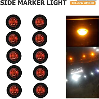 24V Auto Cami/ón Remolque Caravana RV Bus Van Lorry Car Amarillo YUGUIYUN 2pcs LED Luces De Posicion Lateral Side Marker Luces de G/álibo 16 LED 3 para 12V