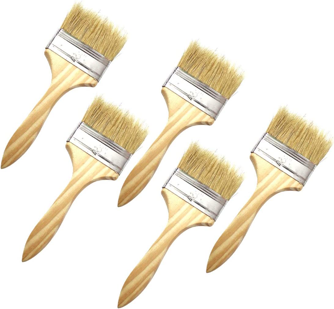 Sipery 5Pcs Industry No. 1 3 inch Chip Milwaukee Mall Bristle Brushes Natural Paint Wo