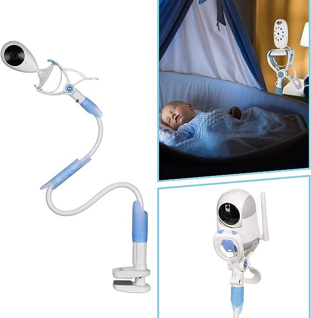 MYPIN Soporte universal para monitor de bebé con correas Estante de montaje de cámara de bebé flexible Sin perforación Soporte de monitor más seguro Bebé