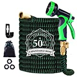 Garden Hose Expandable, 50ft Leakproof Garden Hose with 10 Functions Nozzle, Flexible Water Hose with Durable 3-Layers...