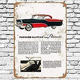 None Branded 1955 Packard Clipper Super Panama Blechschild