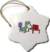 "3dRose Snowflake Ornament, ORN_254019_1, Na, 3"""