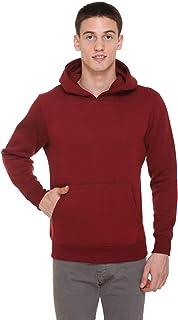 HARBORNBAY Men's Fleece Hooded Sweatshirt Maroon