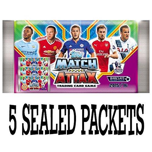 Topps Match Attax Barclays Premier League 2015 2016 Karten - 5 abgedichtet Booster-Pakete (UK-Version)