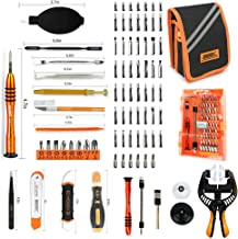Precision Screwdriver Set - 84 in 1 Electronics Repair Tool Kit,54 Magnetic Precision Driver Bits,Pocket Tool Bag for Fix Open Pry Cell Phone,iPhone,Computer,PC,Laptop,Tablet,Game Console,MacBook